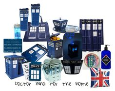 """Doctor Who for the home"" by mamie-jo on Polyvore featuring interior, interiors, interior design, home, home decor, interior decorating, ThinkGeek and Jack Black"