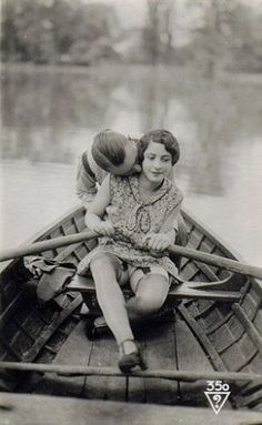 Neck kiss is a little creepy, but the boat is very romantic
