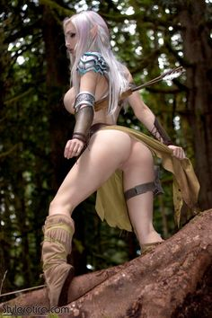 Cosplay Nude Elf Girl (10)