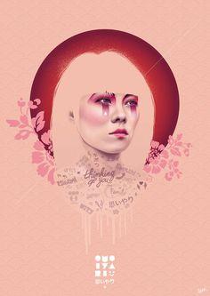 POSTERS FOR JAPAN Vector Portrait Design Artwork