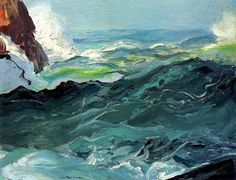 The Sea  by George Bellows   American, 1913  ( a fave for me - genius strokes of art )