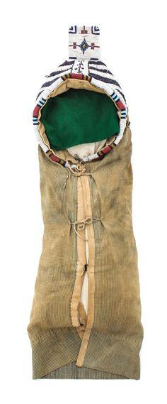 A Northern Plains (Cheyenne) Soft-Sided Cradle Length 41 1/4 x width 10 1/4
