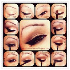brown and black makeup http://more-than-makeup.blogspot.it/2013/12/christmas-makeup-ideas-tutorial-1-idee.html#more