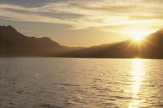 A beautiful sunset on the lake is the perfect way to end a day in #Bariloche.