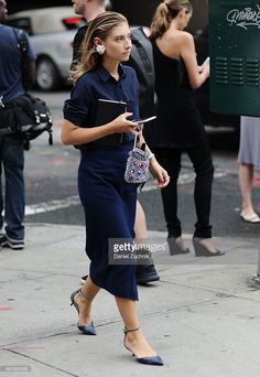 Jenny Walton is seen outside the Josie Natori show during New York Fashion Week Spring 2016 on September 10, 2015 in New York City.