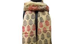 Hand printed scarf/ multicolored  scarf/ cotton by vibrantscarves