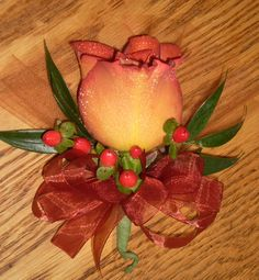 Fall Wedding Corsages | Florals by Crystal: A Fall Wedding