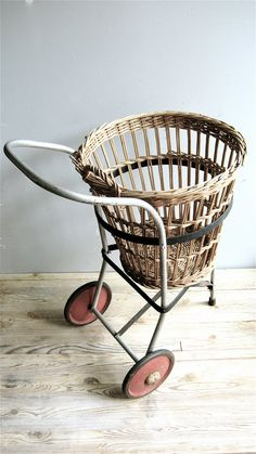 Vintage+Basket/Cart+by+lovintagefinds+on+Etsy,+$245.00