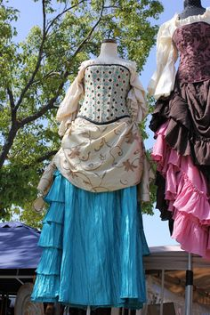 Teal Blue Victorian Bustle Skirt by SilverLeafCostumes on Etsy https://www.etsy.com/listing/99021861/teal-blue-victorian-bustle-skirt