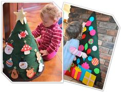 Los árboles de Navidad son el elemento decorativo de estas fechas.Variedad de árboles navideños más originales podeis hacer con la ayuda de vuestros Bebés.