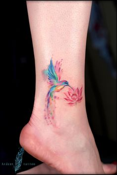 40 Cute Watercolor Tattoo Designs and Ideas For Temporary Use - Cartoon District. - 40 Cute Watercolor Tattoo Designs and Ideas For Temporary Use – Cartoon District – 40 Cute Wat - Mini Tattoos, Body Art Tattoos, New Tattoos, Small Tattoos, Cool Tattoos, Awesome Tattoos, Ankle Tattoos, Dragon Tattoos, Forearm Tattoos