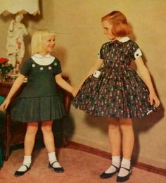 New school dresses, 1950's