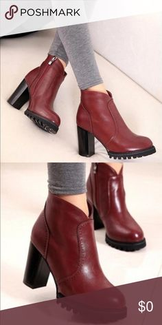 Beautiful red boots! Size 6.5 Gently worn, still in excellent condition! Shoes Ankle Boots & Booties