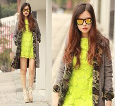 Camo & lace (by Mayo Wo) http://lookbook.nu/look/4719751-camo-lace