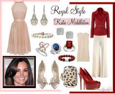 """Royal Style: Kate Middleton"" by courtneydanice ❤ liked on Polyvore"