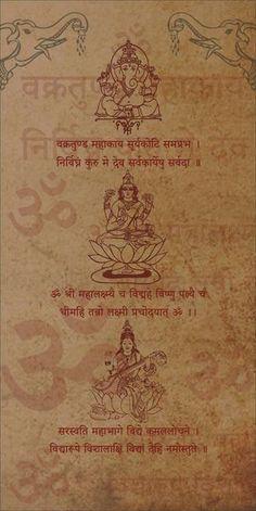 Lord Ganesha, Devi Laxmi and devi saraswati Vedic Mantras, Yoga Mantras, Hindu Mantras, Yoga Studio Design, Lord Shiva Mantra, Saraswati Goddess, Lord Saraswati, Durga Maa, Sanskrit Mantra