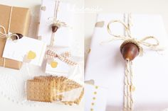 Ghirlanda di Popcorn | progetti creativi: Freebies #9: Autumn wrapping paper + gift tags