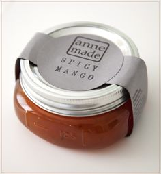 We discovered Anne Made Jam at Brambles, and were immediately smitten. The local jam company's intriguing flavor combos and adorable packaging had us sold. Jam Jar Labels, Jam Label, Canning Labels, Food Packaging Design, Packaging Design Inspiration, Brand Packaging, Dessert Packaging, Bakery Packaging, Jar Design