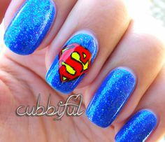 some cute Superman nails
