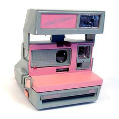 this is pink polaroid perfection.  you aren't a geek if you don't have at least one polaroid camera.