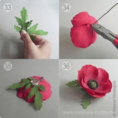 How to Make Red Chocolate Poppy Flower Bouquet Fake Flowers, Artificial Flowers, Silk Flowers, Fabric Flowers, Paper Flowers Craft, Flower Crafts, Paper Crafts, Poppy Flower Bouquet, Red Chocolate