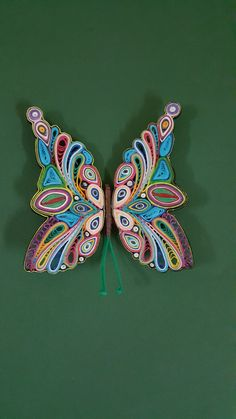 Quilling Animals #Quılling Butterflys