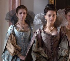 the Queens Ladies in Waiting Tudor Fashion, Baroque Fashion, 17th Century Fashion, 15th Century, Milady De Winter, Lady In Waiting, Female Character Inspiration, Princess Aesthetic, Medieval Costume