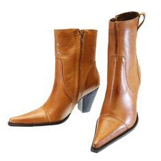 Bota Cano Curto Whisky 1020 | Moselle sapatos finos femininos! Moselle sua boutique online.