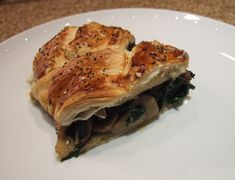 Spinach and mushroom puff pastry plait