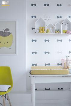 Bibelotte Wallpower Little Bow  Behang poster Little Bow. #kinderkamer #behang