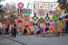 New Myerscough and Morgan installation Open Wide for Steirischer Herbst celebrates cultural integration at inclusive Graz arts festival. Installation Interactive, Installation Art, Art Pop, Graffiti, Psy Art, Festival Decorations, Art Festival, Community Art, Public Art