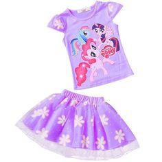 7e62ba6b88e Summer baby girls t-shirt+skirt tracksuit girls clothing