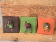 Craft Critters: Dinosaur Hooks....how cute for a boys room!