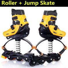 Inline Skates Jump Sports Skate Shoes for Kids Children Jumper Skating Equipment Orange Pink Size Adjustable Changeable Roller