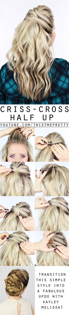 This is a gorgeous day to night hairstyle - something simple for the day an then and added on fishtail braid for night. Come checkout the video!