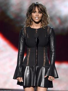 Service award: Halle Berry presented the Pat Tillman Award for Service to Danielle Green...
