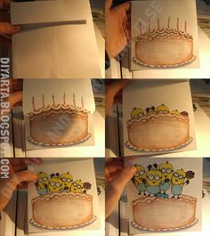 Mingnon card :) Minions, Sunglasses Case, Cards, Diy, Ideas, The Minions, Bricolage, Do It Yourself, Maps