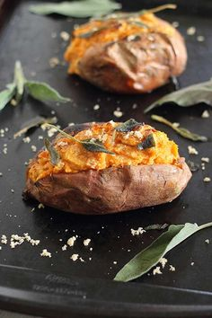 Twice-Baked Sweet Potatoes with Cinnamon Cashew Cream - 10 ways to use cashew cream