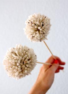 DIY Fake Dandelions