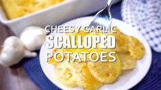 Cheesy Garlic Scalloped Potatoes - Great Grub, Delicious Treats Homemade Lasagna Recipes, Beef Casserole Recipes, Potato Casserole, Pumpkin Recipes, Beef Empanadas, Empanadas Recipe, Cheesy Potatoes, Roasted Potatoes, Decadent Chocolate