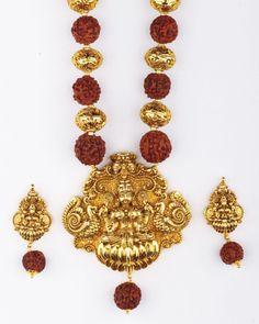 Rudraksh temple jewellery                                                                                                                                                     More