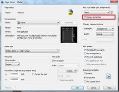 AutoCAD/LT: Show a Plot Style