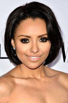 Lovely Short Bob Hairstyles: Kat Graham  #shorthairstyles #bobhairstyles #shorthair