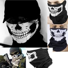 eb4596ba4da3 Call Of Duty Military Army Masks Skeleton Ghost Skull Face Mask Biker  Balaclava