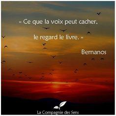""""""" Ce que le #voix peut cacher, le #regard le livre """" #Bernanons"""