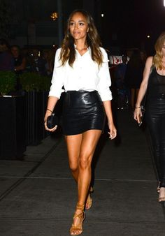Ashley Madekwe Leaving The eNews Fashion Week Party in NYC, September 2015