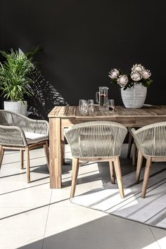 Discover, browse and shop a wide range of quality furniture, homeware and accessories online for living rooms, dining rooms and bedrooms. Outdoor Couch, Outdoor Dining, Outdoor Decor, Patio Table, Patio Chairs, Modern Bedroom Furniture, Outdoor Furniture Sets, Outdoor Seating Areas, Outdoor Settings