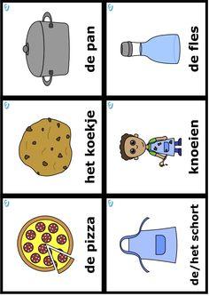 woordkaarten Dutch Language, Toddler Play, Restaurant, Activities, Cards, Google, Blue Prints, Food, Studying