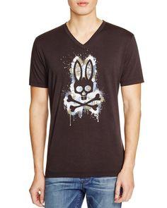 Psycho Bunny Dripping Bunny V-Neck Tee