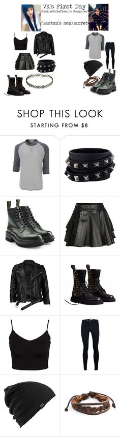"""""""VK'S First Day (Maleficent's And Gaston's Children)"""" by randomfandom2022 ❤ liked on Polyvore featuring LE3NO, Valentino, Dsquared2, Mairi Mcdonald, VIPARO, Burberry, Glamorous, Topman, Burton and West Coast Jewelry"""
